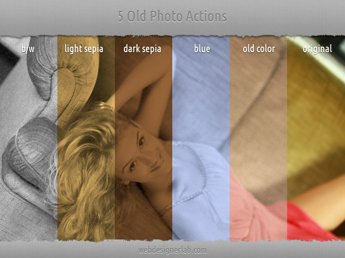أكشن الصورة قديمة تأثيرات