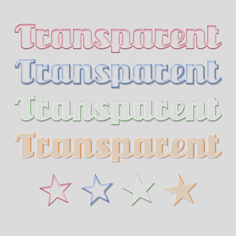 Glassy Text Styles by xara24