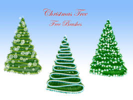 Christmas Tree Free Brushes by xara24