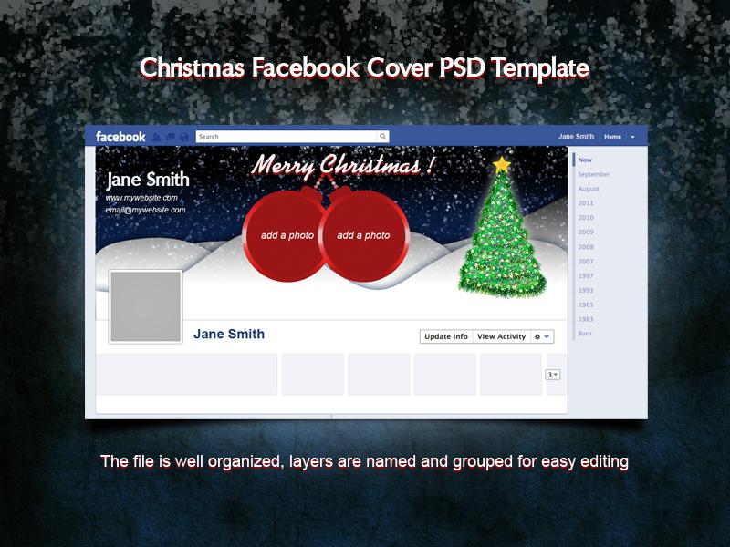 Christmas Facebook Cover PSD Template by xara24 ...