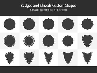 Badges and Shields Custom Shapes