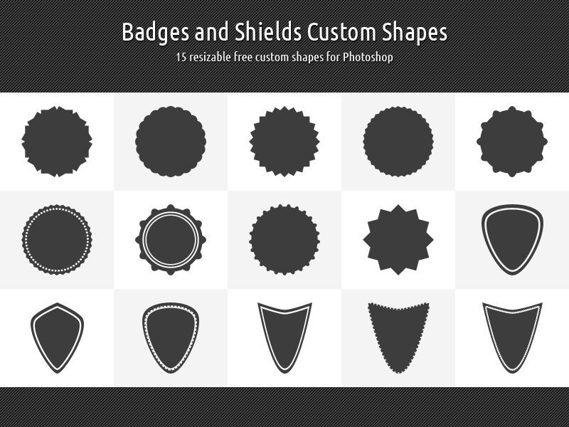 badges and shields custom shapes by xara24 on deviantart
