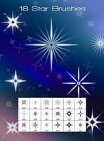 18 Star Brushes by xara24