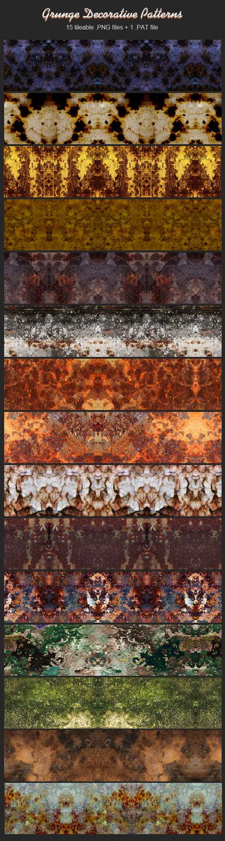 Grunge Decorative Patterns by xara24