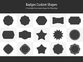 Badges Custom Shapes by xara24