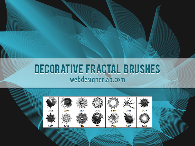 Decorative Fractal Brushes by xara24