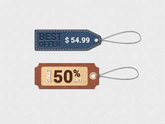 Price Tags Free PSD