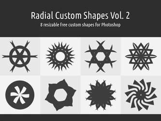 Radial Custom Shapes Vol. 2 by xara24