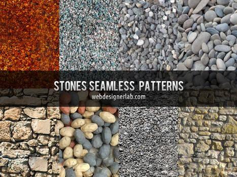 Stones Seamless Patterns