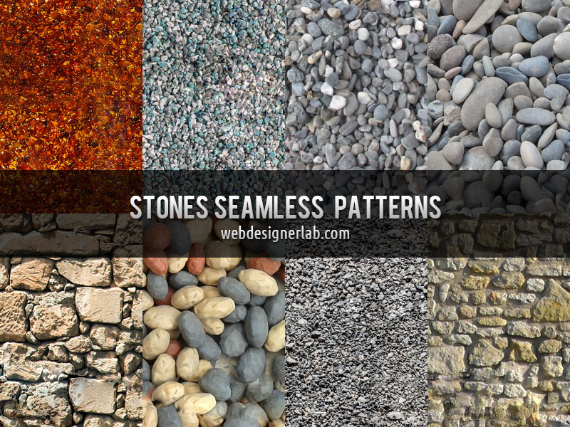 Stones Seamless Patterns by xara24