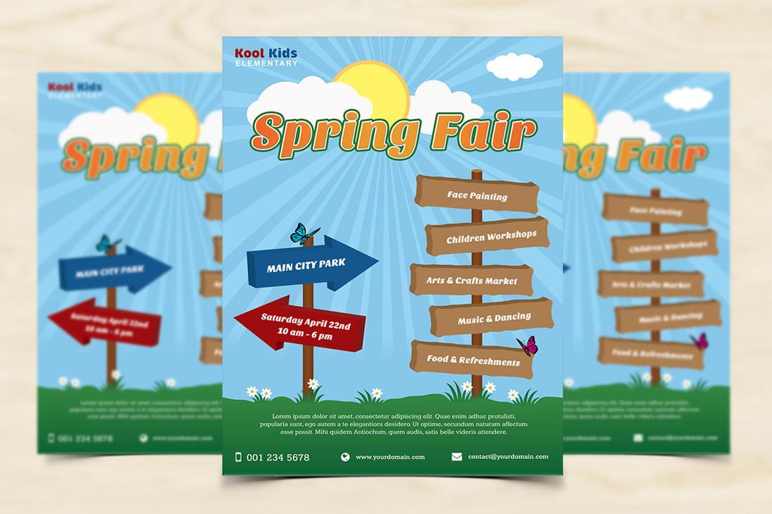 Spring fair flyer by xara24 on deviantart for Craft fair application template