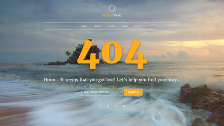 404 Page PSD Template