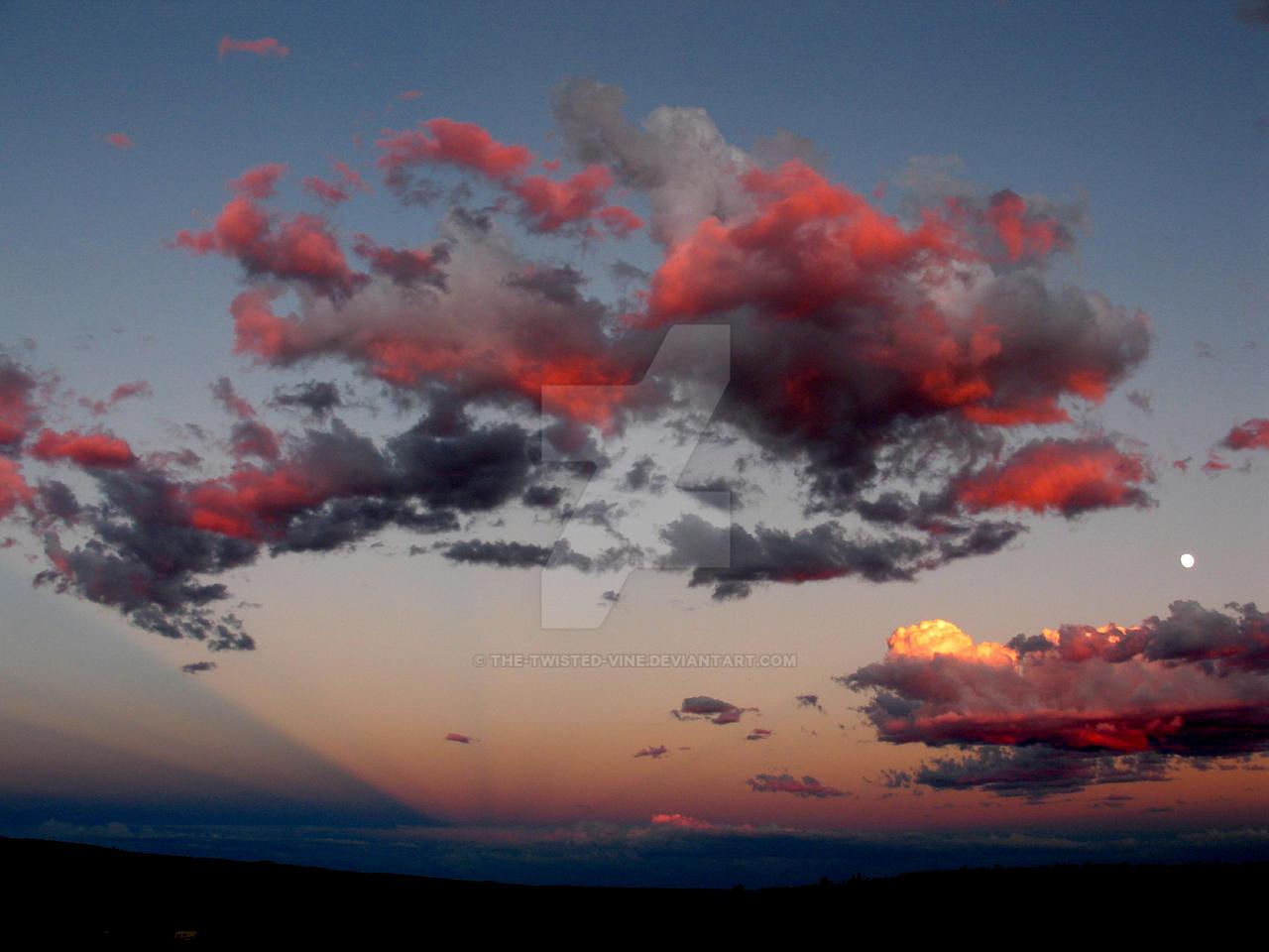 Sunset and moonrise in Utah 2