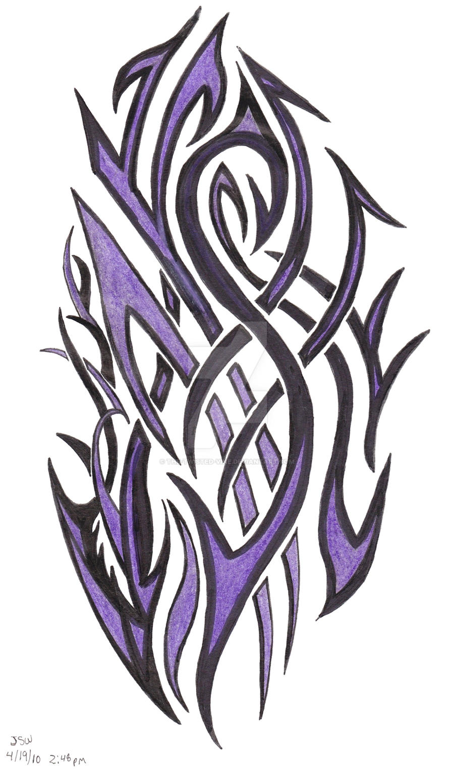 Purple Tribal by the-twisted-vine