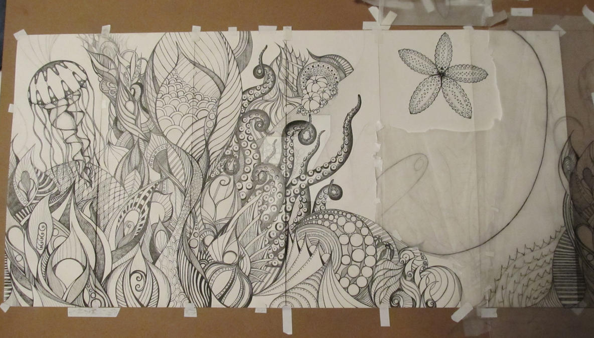 6 part panel WIP update 3/22/12 by the-twisted-vine