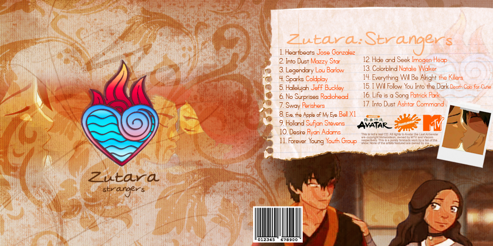 Zutara Fanmix CD Spread by SindeeDee