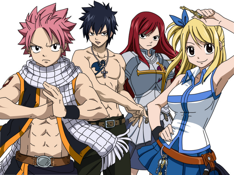 Anime Characters Fairy Tail : Fairy tail characters by iamdeathwolf on deviantart