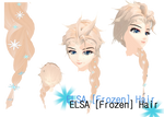 MMD - Elsa [Frozen]  Hair (W.I.P) DL available!