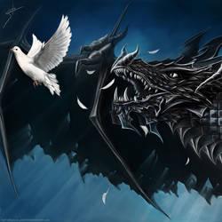 Pigeon Versus Dragon by LimonTea