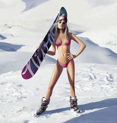 Snowboard Is Waiting by LimonTea