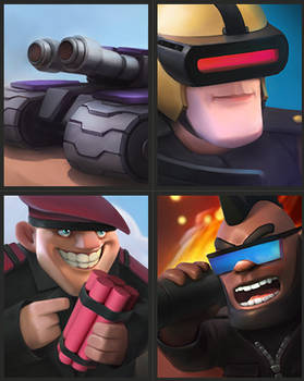 Clash Royal In Futuristic Setting