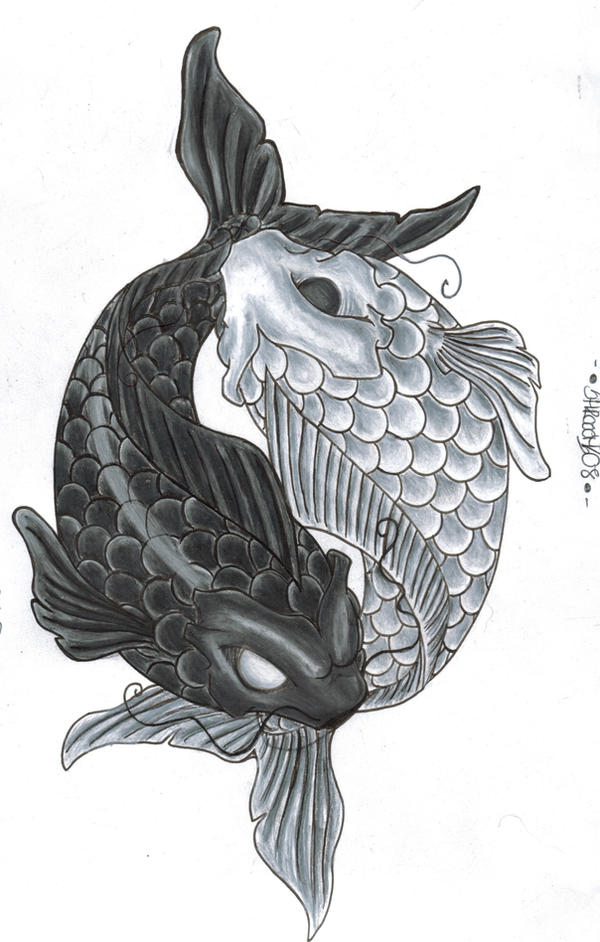 Yin yang by shrooomz08 on deviantart for Yin yang fish tattoo
