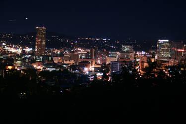 Portland at Night by Southwest