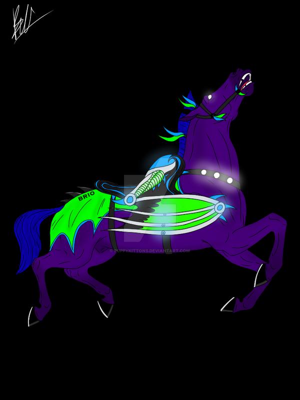 Brio Dragon Carousel Horse Design #2 by puppykittons
