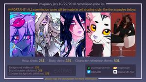 Commission Prices list - October-November, 2018