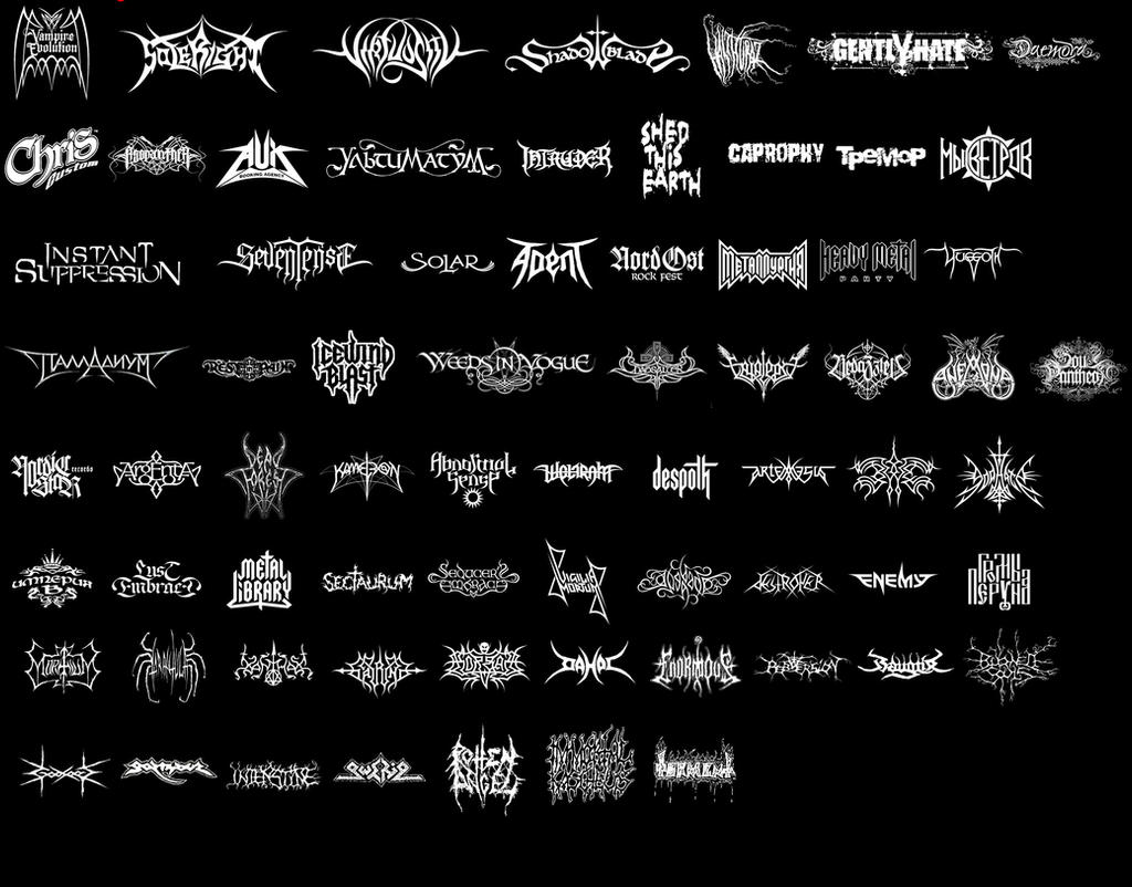 Metal band logos samples by lakmus on DeviantArt