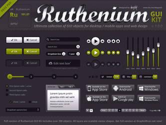 Ruthenium UI Kit FREE PSD by lakmus