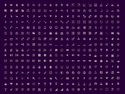 Nano Icons 8x8 px by lakmus