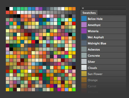 Photoshop Swatches Library for Flat UI Design by lakmus