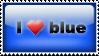 Stamp: I love blue