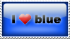 Stamp: I love blue by Anajrob