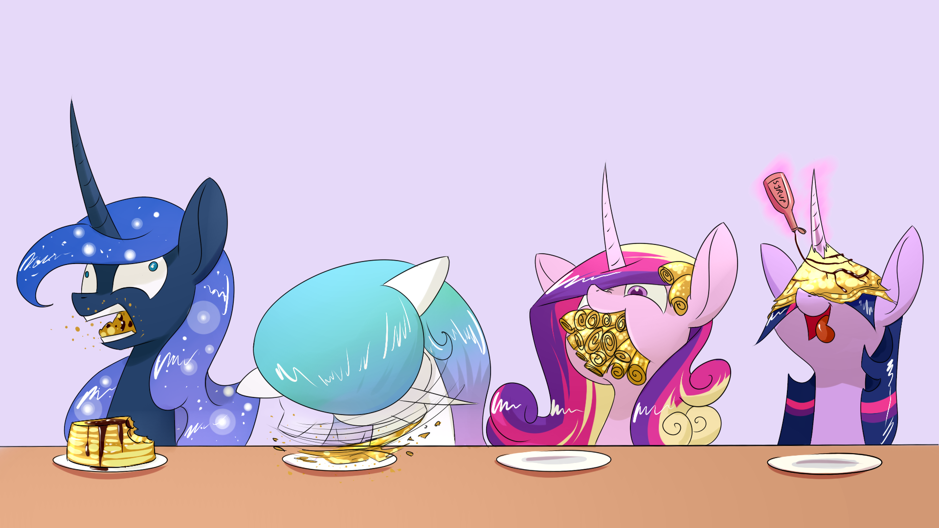 Twilight Sparkle Alicorn Season 4 Pancakes by Underpable...