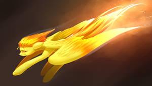 Spitfire On Fire