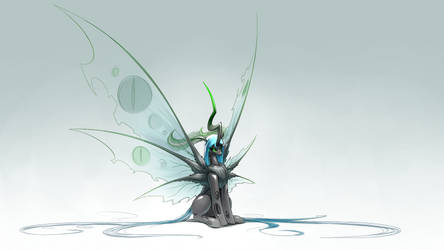Grand Moth Chrysalis by Underpable