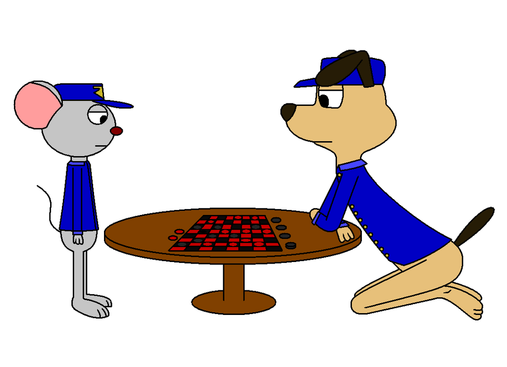 Max the Police Dog-Checkers by Bkaj1988