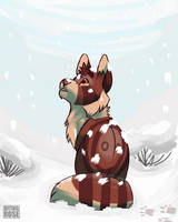 Bramblepaw's First Snowfall by BitingRoseee