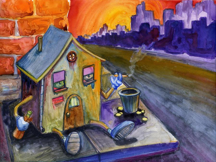 Homeless House by tatsumakichan