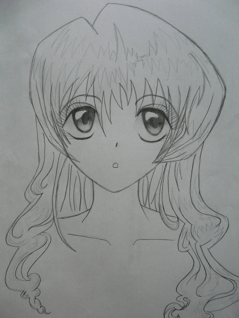 Anime pencil sketch by copecat26
