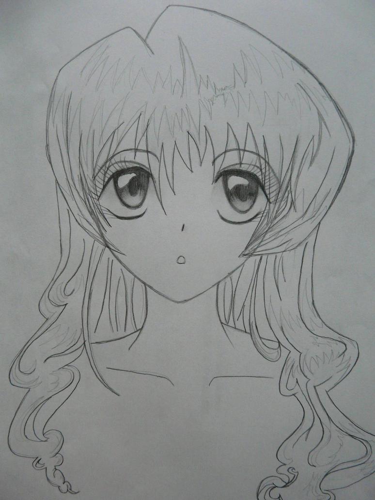 Anime Pencil Sketch by copEcat26 on DeviantArt