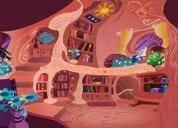 Library Upper Floors (Twilight's Bedroom) by DaringDashie