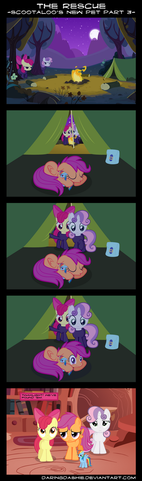 The Rescue - Scootaloo's New Pet Part 3 by DaringDashie