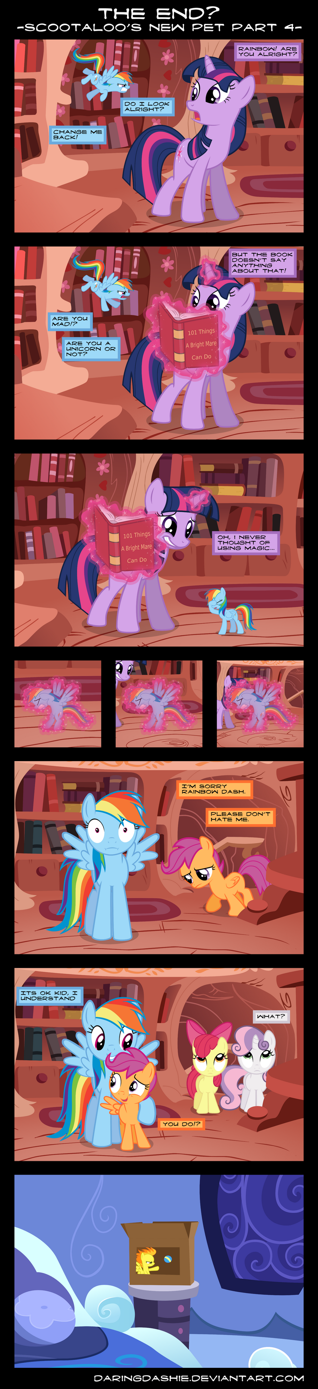 The End? - Scootaloo's New Pet Part 4 by DaringDashie