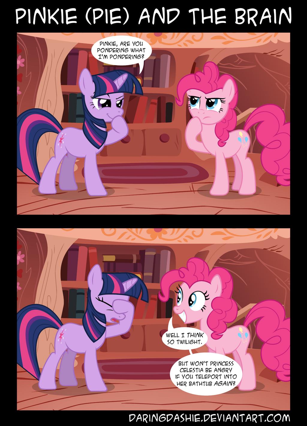 Pinkie (Pie) and the Brain by DaringDashie