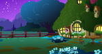 Fluttershy's Cottage Exterior (night)