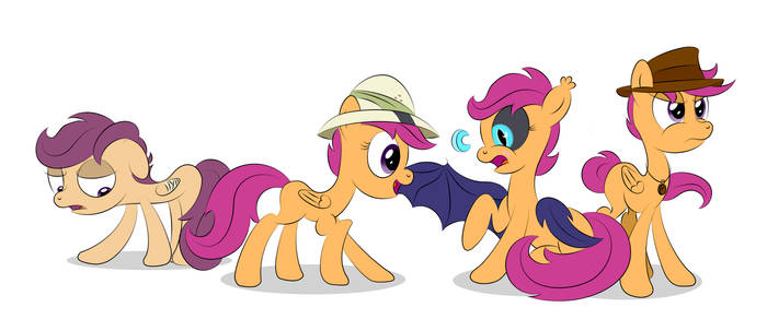The Many Faces of Scootaloo