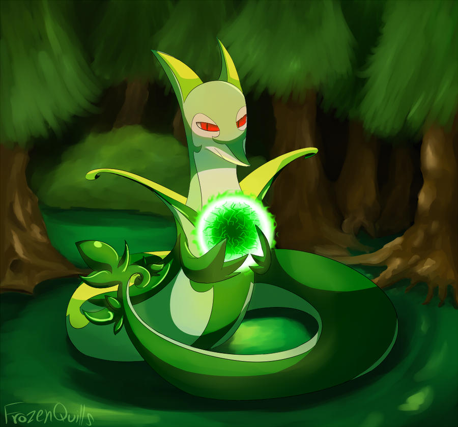 Serperior by FrozenQuills on DeviantArt